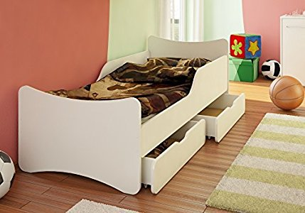 best for kids kinderbett mit schaummatratze t v zertifiziert mit zwei schubladen 90x200 preis. Black Bedroom Furniture Sets. Home Design Ideas