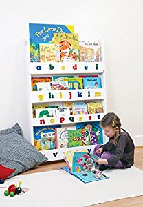 tidy books das originale kinder b cherregal in wei mit alphabet buchcover werden. Black Bedroom Furniture Sets. Home Design Ideas